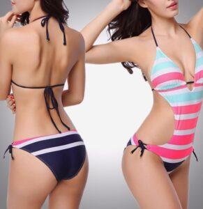 Markafix Yeni-Sıcak-Mayo-Bangdage-Bikini-V-Yaka-Seksi-Şerit-Büyü-Renkli-Mayo-Şerit-Tarzı-Bikini-Mayo-291x300