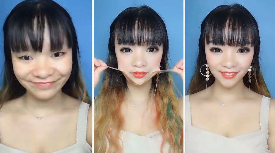 Sculpted-faces-Asians-use-tweezers-and-scissors-to-remove-their-stunning-video-makeup-5b39d924d601b__880