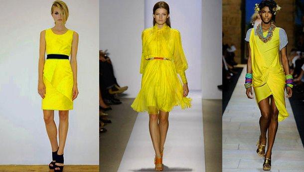 2014-Sarı-elbise-modası-1